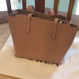 Furla Sally small tote in blush pink with dust bag